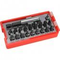 behajtó klt. 20 db C.V., lapos:3-6, PH1-3, PZ1-3, HEX 4-6mm, T10-40, övre akasztható műanyag tartóban