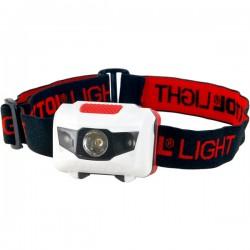 Piros LED fejlámpa 40 Lumen  1  fehér vagy 2 piros LED