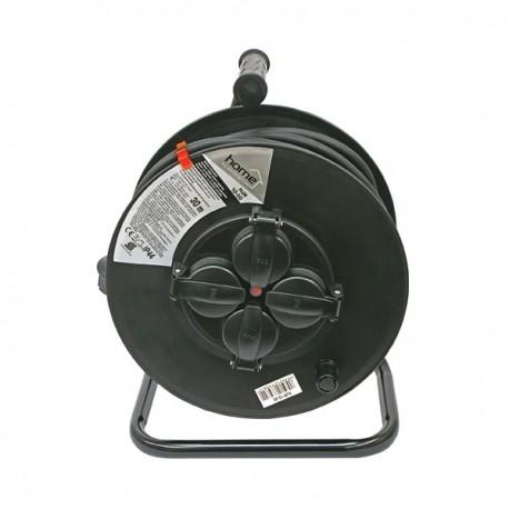 30m villamos hosszabbító gumikábel dobra tekerve IP44