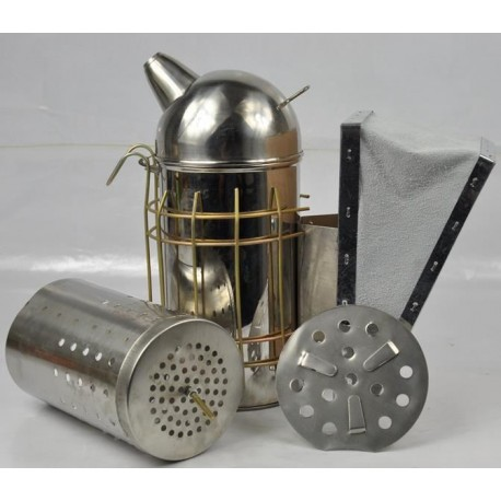Közepes - Európai füstölő kivehető betéttel INOX