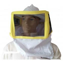 Méhészkalap szögletes, karbebújós