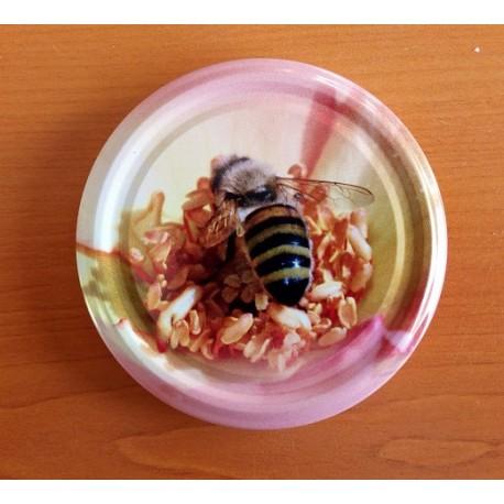 Méhecske rózsaszín virágon 82 mm